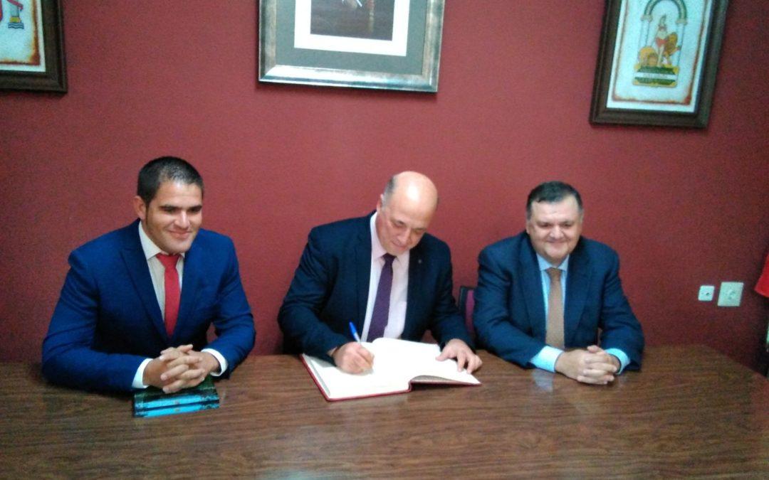Visita Institucional Presidente Diputación y Delegado de Agricultura 28-11-2017