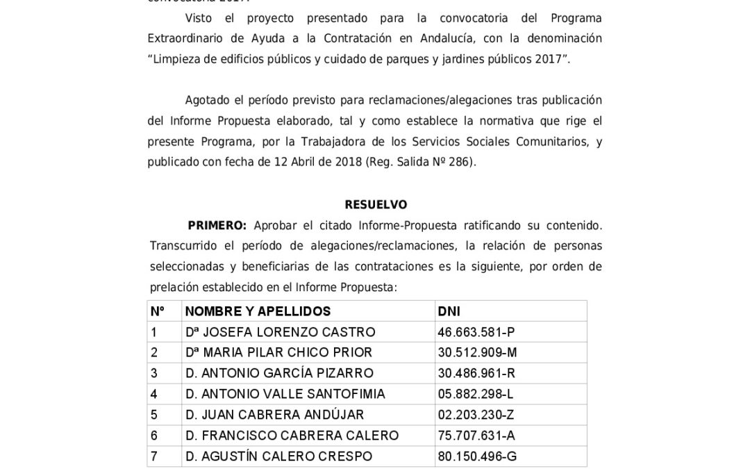 RESOLUCIÓN DEFINITIVA ALCALDÍA PROGRAMA AYUDA A LA CONTRATACIÓN 1