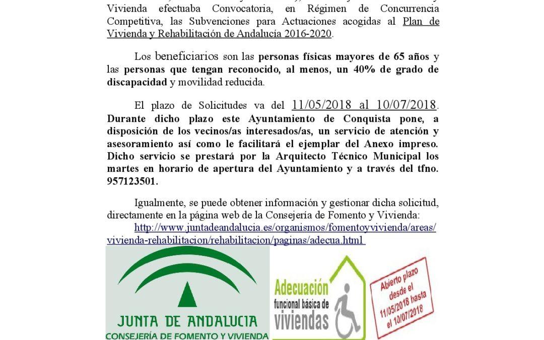 SUBVENCIONES REHABILITACIÓN DE VIVIENDAS JUNTA DE ANDALUCÍA