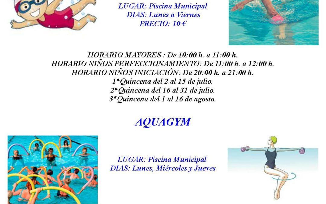 Cursos de Natación y Aquagym 2018. 1