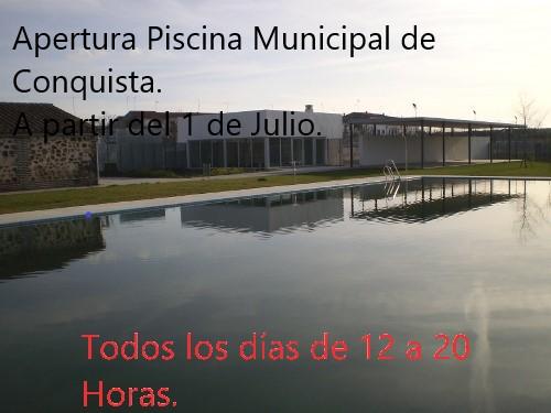 Cartel Apertura Piscina Municipal 2018. El Mejor Lugar para Nuestro Verano. 1