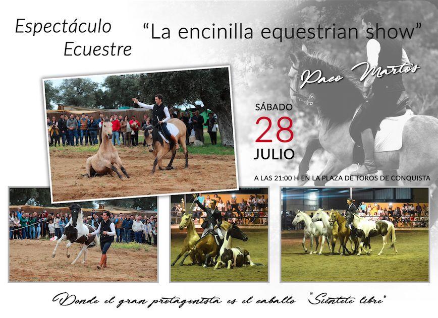 """Espectáculo Ecuestre """"LA Encinilla Equestrian Show"""" en Feria Santa Ana."""