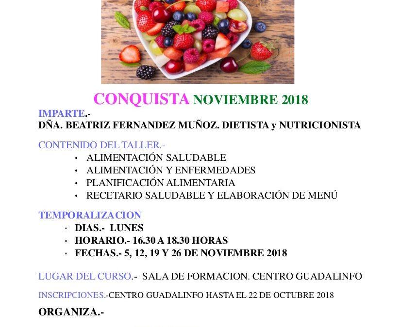 TALLER DE NUTRICIÓN PARA CUIDADORES 1
