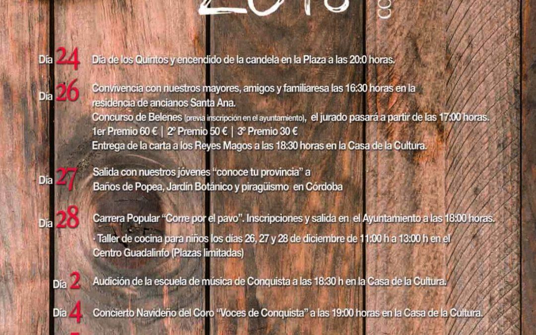 PROGRAMA ACTIVIDADES DURANTE LA NAVIDAD 2018. 1
