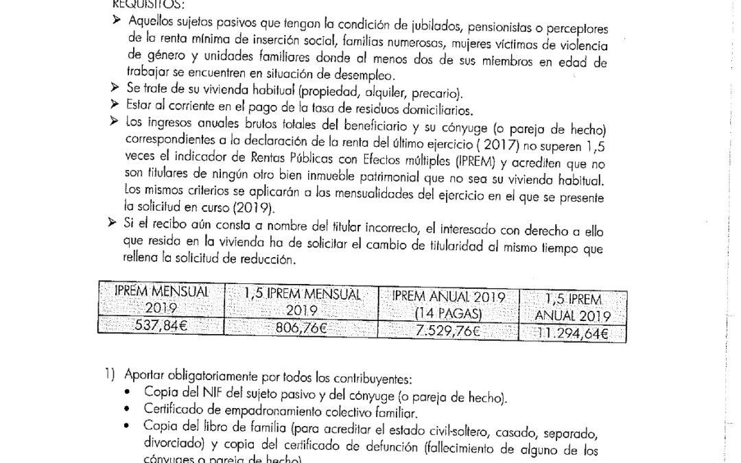 Comunicado de EPREMASA sobre Reducción Tasa Basura. 1