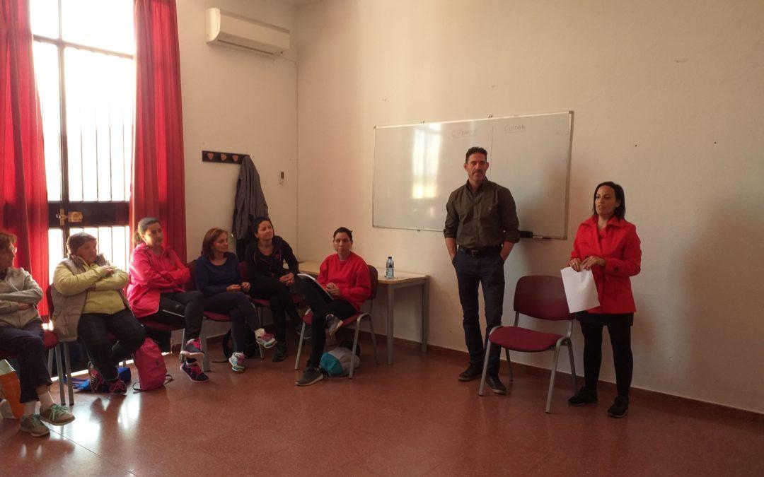 Taller de Fisioterapia y Somotización Realizándose en Centro Guadalinfo. Abril de 2019. 1