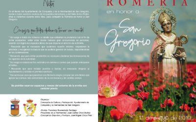 Romería SAN GREGORIO 2019. Cartel y Programa de Actividades.