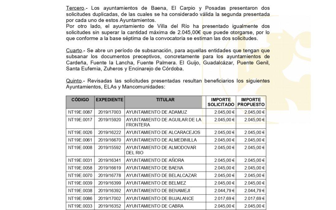 Recibida Resolución Definitiva Convocatoria Modernización 2019 de Diputación