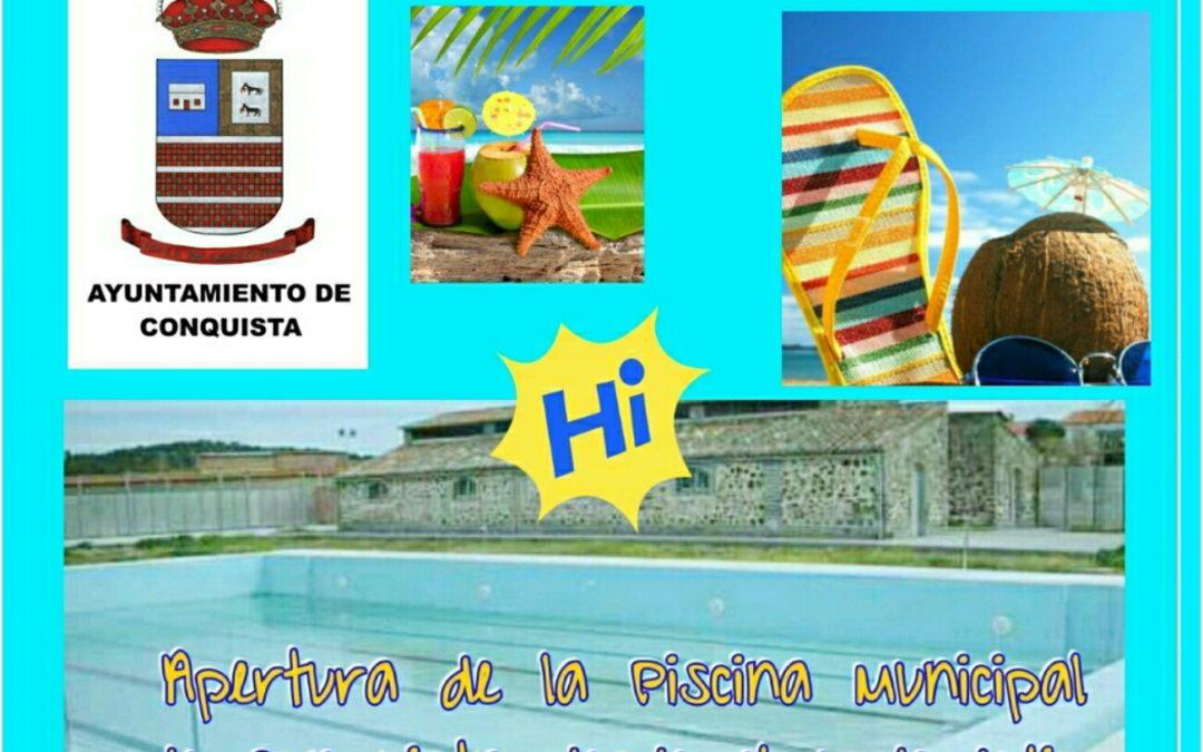 Cartel Apertura Piscina Municipal Verano 2019.