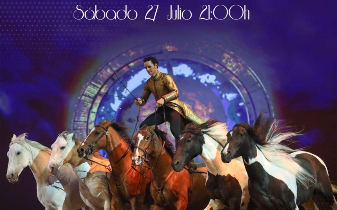 Cartel Espectáculo Internacional de Paco Martos el 27 de Julio, en la Plaza de Toros.  1