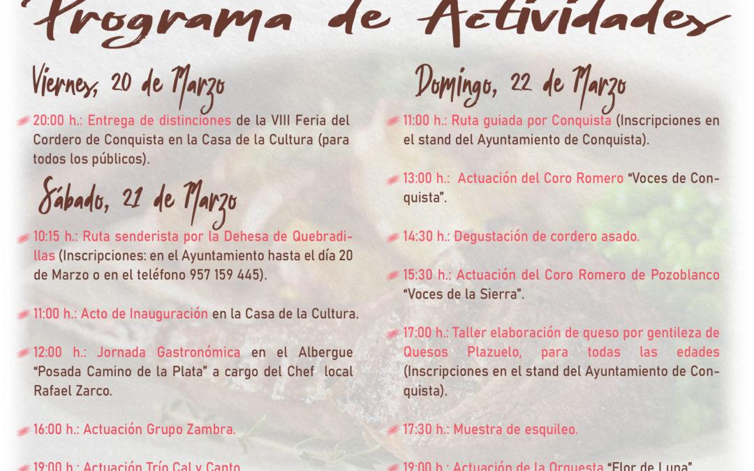 Programa de Actividades y Díptico Mapa-Callejero VIII FERIA DEL CORDERO