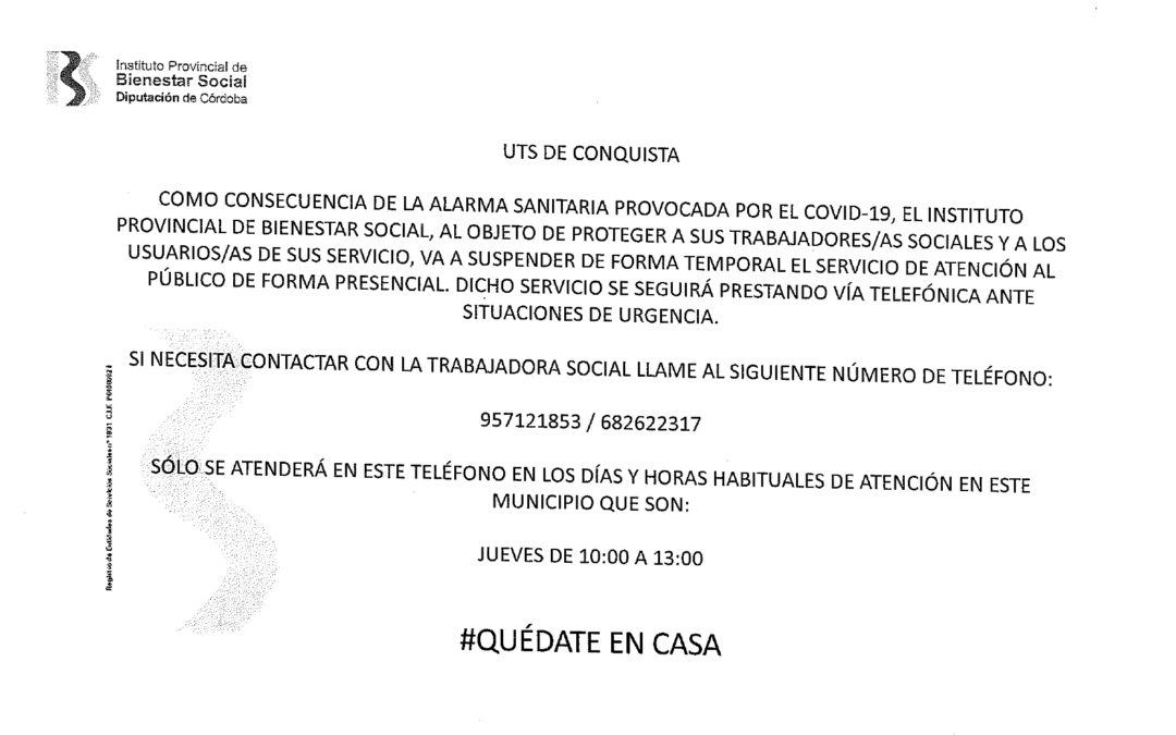 Comunicado Unidad de Trabajo Social de Conquista. 1