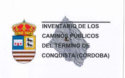 INVENTARIO DE CAMINOS PÚBLICOS DE CONQUISTA