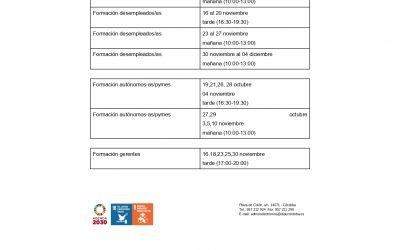 Proyecto TRAFO de Formación para Desempleados y Autónomos. Diputación de Córdoba.