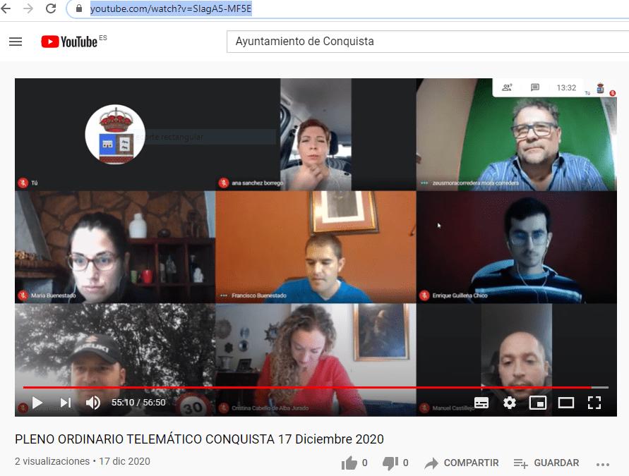 Retransmisión PLENO ORDINARIO DE 17 DE DICIEMBRE DE 2020.