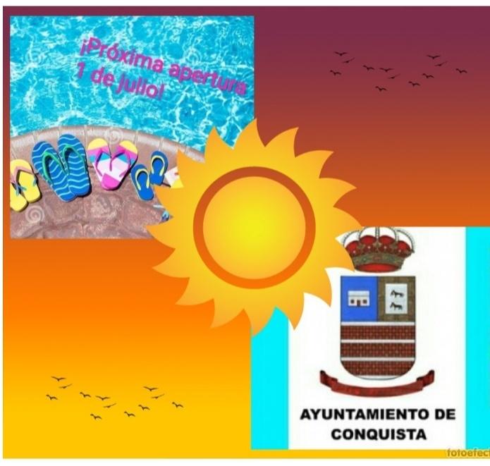 Cartel apertura piscina municipal 2021.