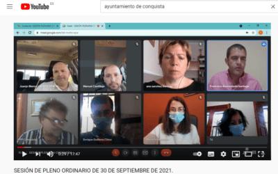 Vídeo/retransmisión PLENO ORDINARIO DE 30 DE SEPTIEMBRE DE 2021.